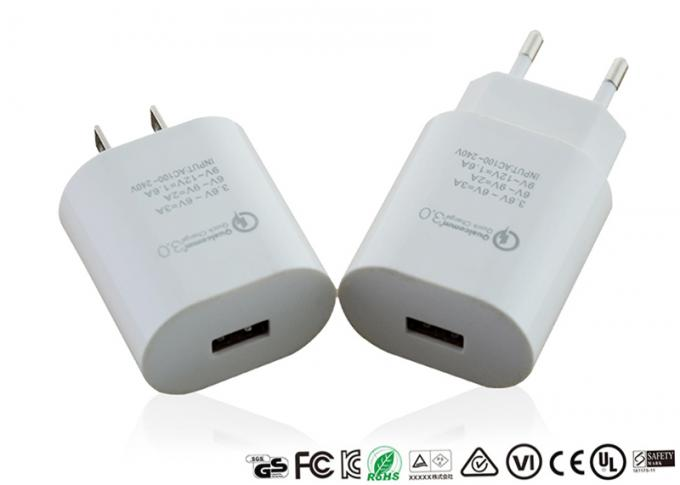 Qualcomm US Plug Quick Charge Adapter Qc3.0 Fast Charging Adaptor Mini Size