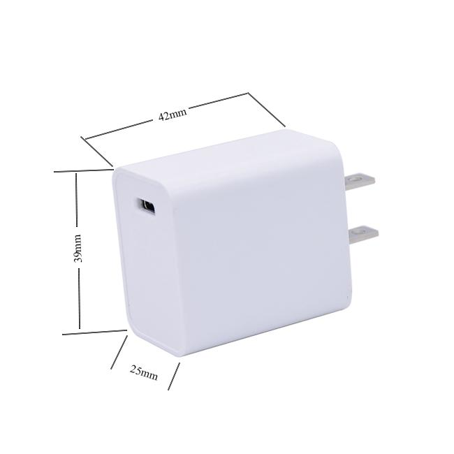 Type C Quick Charge Adapter PD USB 18W QC3.0 Fast Charging Adapter 5V 3A