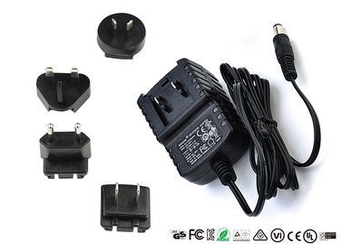 China AC DC Wall Mount Interchangeable Plug Power Adapter Input 50hz / 60hz 12V 0.5A supplier