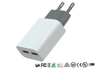 OEM Smartphone 2 Ports USB Charger 2.1A Portable Travel Wall Adapter For Mobile Phone
