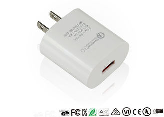 China Qualcomm US Plug Quick Charge Adapter Qc3.0 Fast Charging Adaptor Mini Size supplier