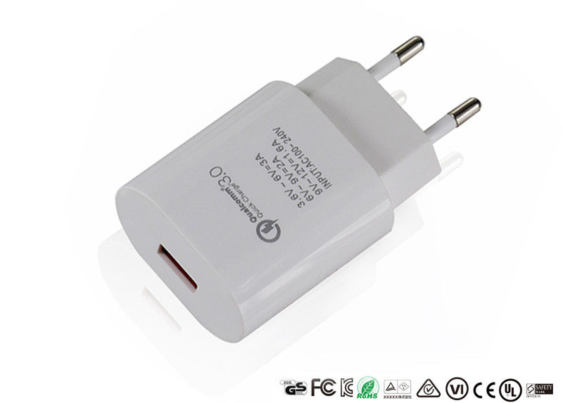 3.0 Qualcomm Quick Charge Adapter Fast Charge 18W Wall USB Adapter For Huawei