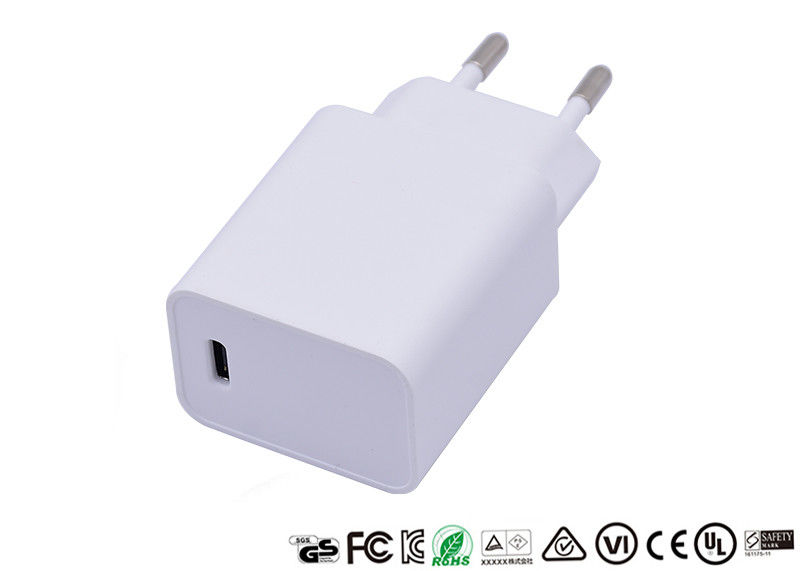 PD 18W Wall Fast Phone Type C 12V 1500mA Quick Charge Adapter